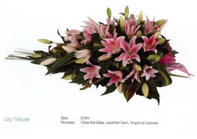 Funeral Sheath lily tribute